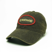 NEW Creme Solid-Back Logo Hats